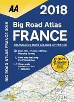 AA Big Road Atlas France 2018 (Paperback)