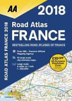 AA Road Atlas France 2018 (Spiral bound)