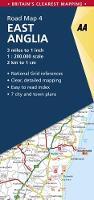 East Anglia Road Map - AA Road Map Britain 4 (Sheet map, folded)