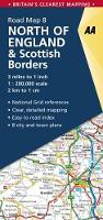 North of England & Scottish Borders - AA Road Map Britain 8 (Sheet map, folded)