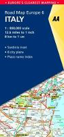 6. Italy: AA Road Map Europe - AA Road Map Europe (Sheet map, folded)