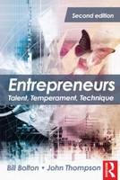 Entrepreneurs: Talent, Temperament, Technique (Paperback)