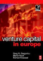 Venture Capital in Europe - Quantitative Finance (Hardback)