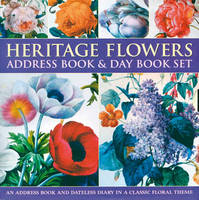 Heritage Flowers Address Book and Day Book Set