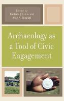 Archaeology as a Tool of Civic Engagement (Hardback)