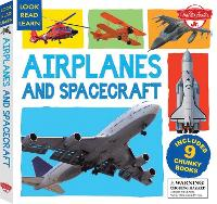 Airplanes and Spacecraft: Includes 9 Chunky Books - Look, Read, Learn (Hardback)