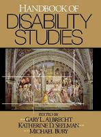 Handbook of Disability Studies (Hardback)