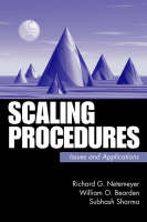 Scaling Procedures: Issues and Applications (Hardback)