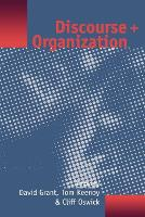 Discourse and Organization (Paperback)