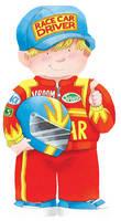 Race Car Driver - Mini People Shape Books (Board book)
