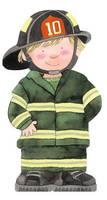 Fireman - Mini People Shape Books (Board book)