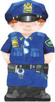Policeman - Mini People Shape Books (Board book)