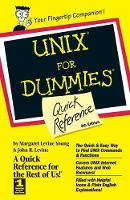 UNIX For Dummies Quick Reference (Paperback)