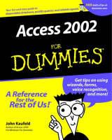 Access 2002 For Dummies (Paperback)