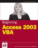 Beginning Access 2003 VBA (Paperback)