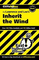 """Inherit the Wind"" - Cliffs Notes S. (Paperback)"
