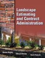 Landscape Estimating and Contract Administration (Paperback)