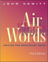 Air Words: Writing for Broadcast News (Paperback)