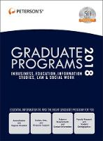 Graduate Programs in Business, Education, Information Studies, Law & Social Work 2018 (Hardback)
