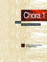 Chora 1: Intervals in the Philosophy of Architecture - CHORA: Intervals in the Philosophy of Architecture (Hardback)