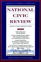 """National Civic Review"": Jb Journal Number 2 Summer 2001 (Paperback)"