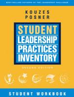 The Student Leadership Practices Inventory (LPI): Student Workbook - J-B Leadership Challenge: Kouzes/Posner (Paperback)