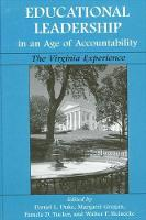 Educational Leadership in an Age of Accountability: The Virginia Experience - SUNY series, Educational Leadership (Paperback)