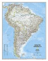 South America Classic, Tubed: Wall Maps Continents (Sheet map, rolled)
