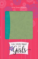KJV Study Bible for Girls Willow/Turquoise, Butterfly Design Duravella (Leather / fine binding)