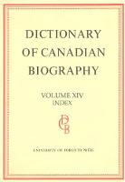 Dcb Index - Dictionary of Canadian Biography 1 - 4 (Hardback)