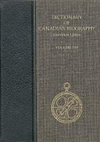 Dictionary of Canadian Biography, Laurentian - Dictionary of Canadian Biography 8 (Hardback)