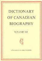 Dictionary of Canadian Biography / Dictionaire Biographique du Canada: Volume XII, 1891 - 1900 - Dictionary of Canadian Biography 12 (Hardback)