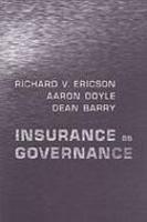 Insurance as Governance (Hardback)
