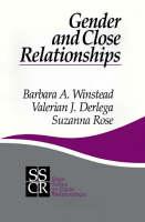 Gender and Close Relationships - SAGE Series on Close Relationships (Paperback)