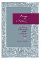 Pretexts of Authority: The Rhetoric of Authorship in the Renaissance Preface (Hardback)