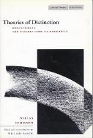 Theories of Distinction: Redescribing the Descriptions of Modernity - Cultural Memory in the Present (Hardback)