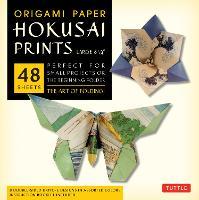 "Origami Paper Hokusai Prints (Large 8 1/4"") (Hardback)"