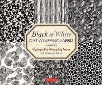 Black and White Gift Wrapping Papers - 6 sheets: 6 Sheets of High-Quality 18 x 24 inch Wrapping Paper (Paperback)