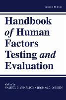 Handbook of Human Factors Testing and Evaluation (Hardback)