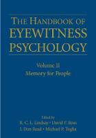 The Handbook of Eyewitness Psychology: Volume II: Memory for People (Hardback)