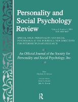 Personality and Social Psychology at the Interface: New Directions for Interdisciplinary Research: A Special Issue of personality and Social Psychology Review (Paperback)