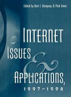Internet Issues and Applications, 1997-98 (Paperback)