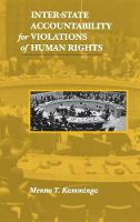 Inter-State Accountability for Violations of Human Rights - Pennsylvania Studies in Human Rights (Hardback)