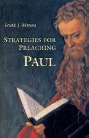 Strategies for Preaching Paul (Paperback)