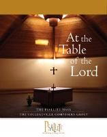 The Psallite Mass: At the Table of the Lord: Accompaniment Edition (Paperback)