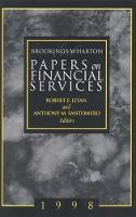 Brookings-Wharton Papers on Financial Services: 1998 - Brookings-Wharton Papers on Financial Services (Paperback)
