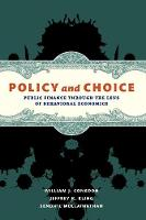 Policy and Choice: Public Finance Through the Lens of Behavioral Economics (Paperback)