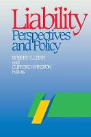 Liability: Perspectives and Policy (Paperback)