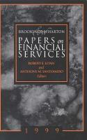 Brookings-Wharton Papers on Financial Services: 1999 - Brookings-Wharton Papers on Financial Services (Paperback)