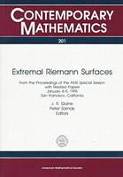 Extremal Riemann Surfaces - Contemporary Mathematics (Paperback)